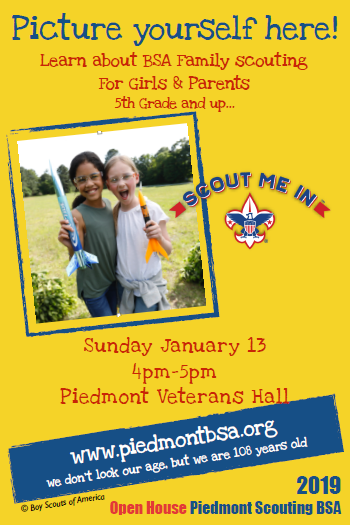 Piedmont BSA Family Scouting Open HousePiedmont Exedra