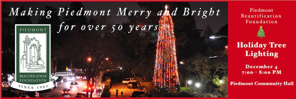 Christmas Tree Lighting Piedmont 2020 Annual Holiday Tree Lighting   Wed, December 4Piedmont Exedra